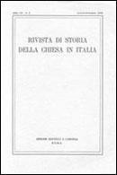 RIVISTA DI STORIA DELLA CHIESA IN ITALIA - 2011 - 1