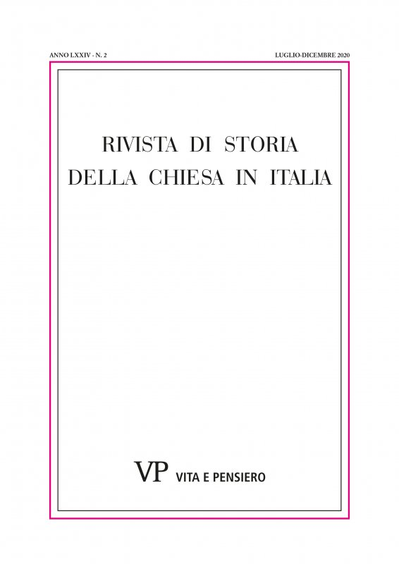 RIVISTA DI STORIA DELLA CHIESA IN ITALIA - 2020 - 2