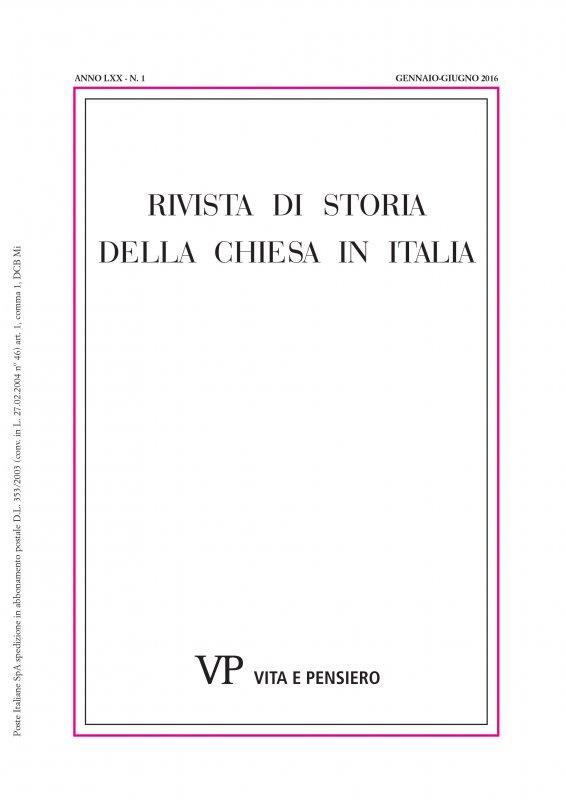 RIVISTA DI STORIA DELLA CHIESA IN ITALIA. Abbonamento annuale 2018